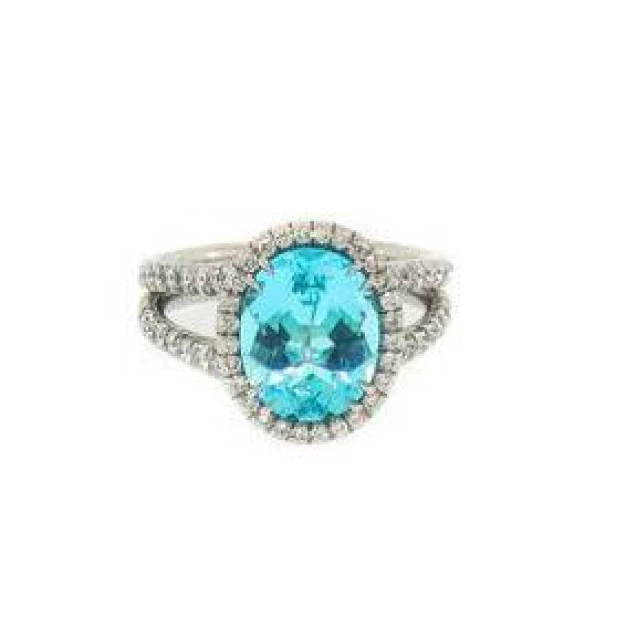 Manfredi Jewels Jewelry - Paraiba Tourmaline and Diamond Platinum Ring | Manfredi Jewels