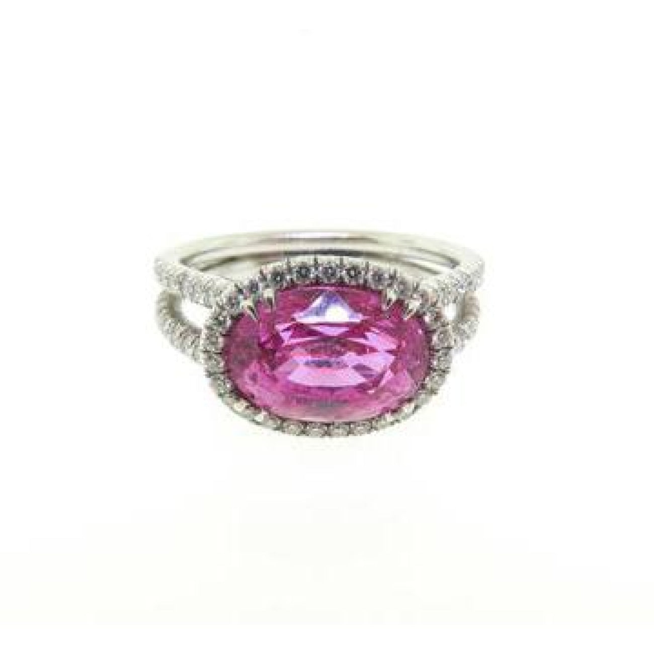Manfredi Jewels Jewelry - Platinum Pink Sapphire and Diamond Ring | Manfredi Jewels