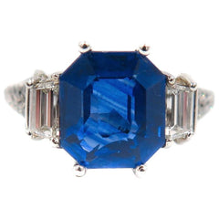 Manfredi Jewels Engagement - Sapphire and Diamond Platinum Ring | Manfredi Jewels
