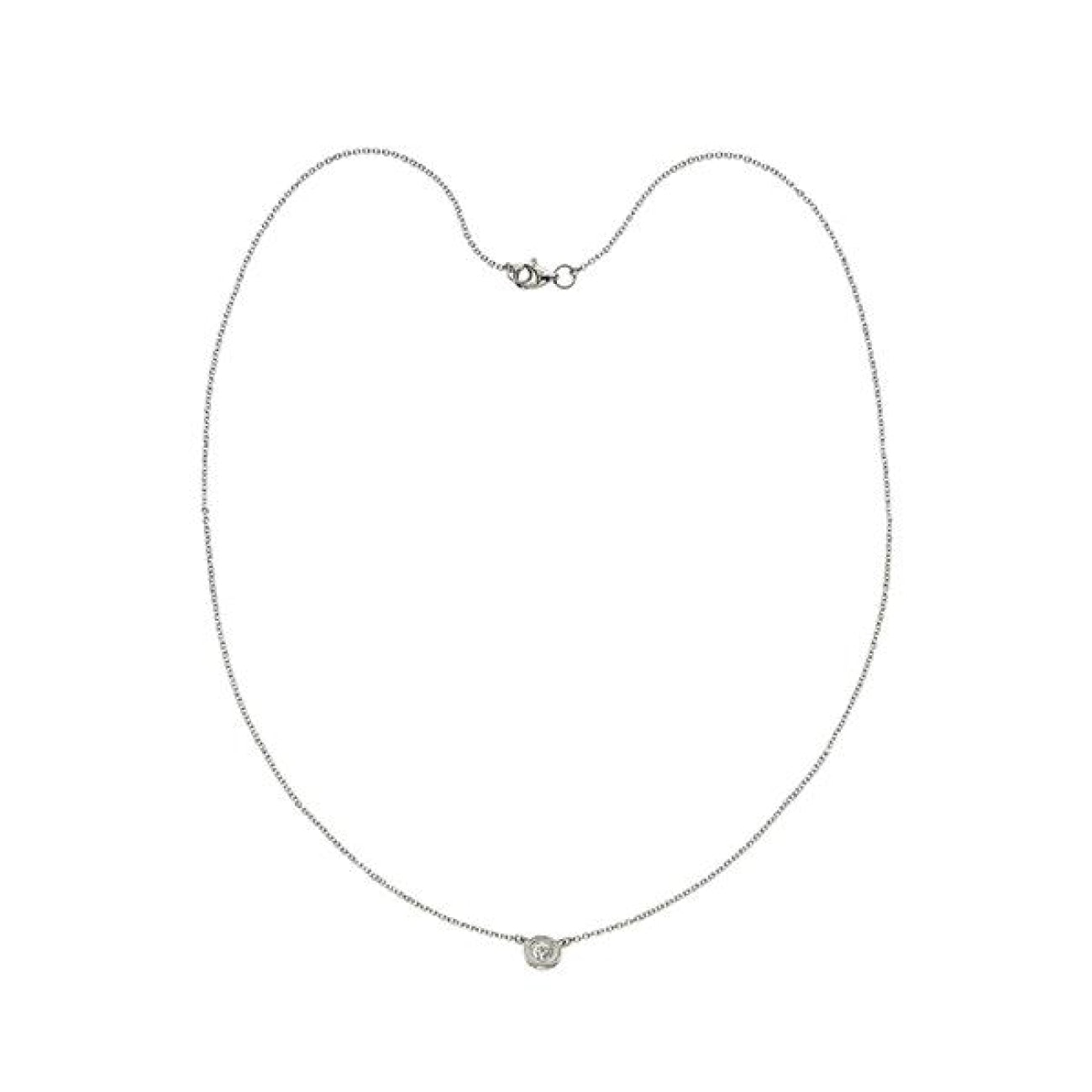 Manfredi Jewels Jewelry - Single Stone Diamond Necklace | Manfredi Jewels