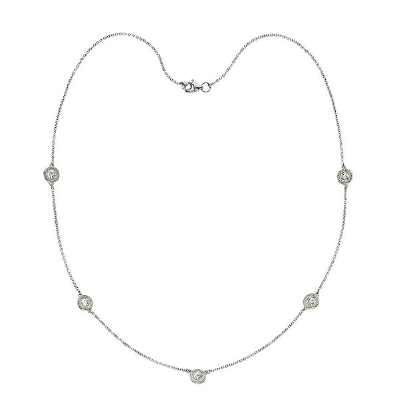 Manfredi Jewels Jewelry - Stone Diamond Necklace | Manfredi Jewels