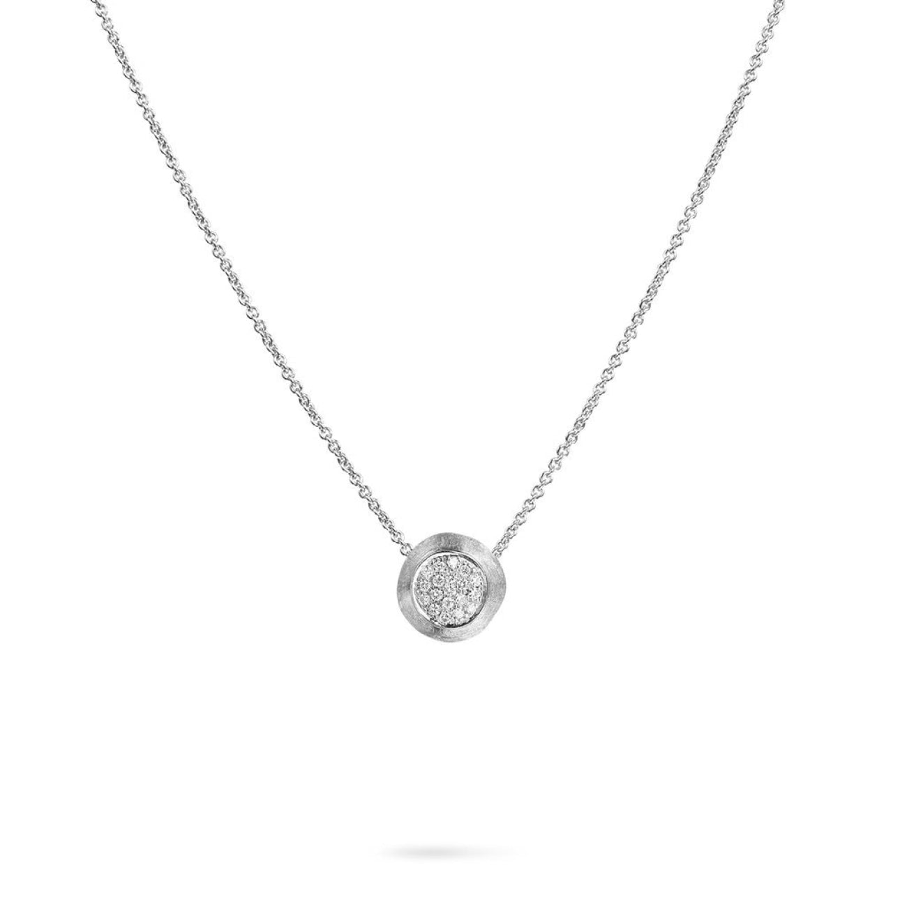 Marco Bicego Jewelry - 18K White Gold Jaipur Diamond White Pendant Necklace | Manfredi Jewels