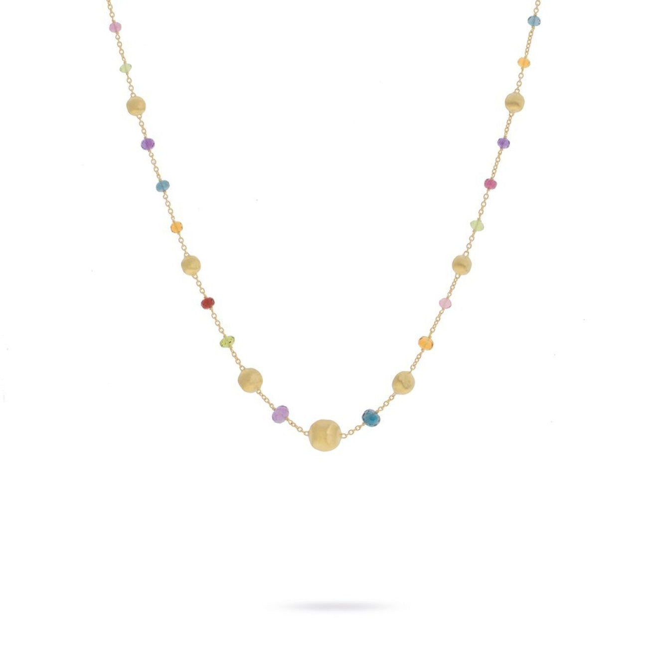 Marco Bicego Jewelry - 18K Yellow Gold and Multi-Colored Gemstone Necklace | Manfredi Jewels