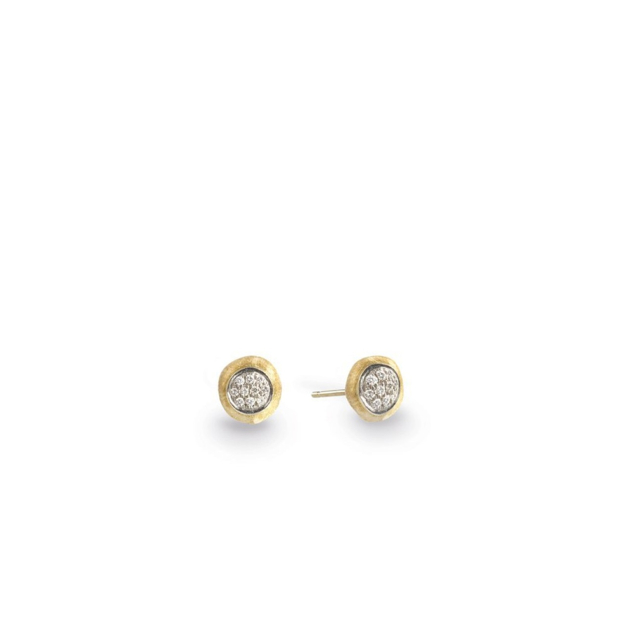 Marco Bicego Jewelry - 18K Yellow Gold & Diamond Pave Small Stud Earrings | Manfredi Jewels