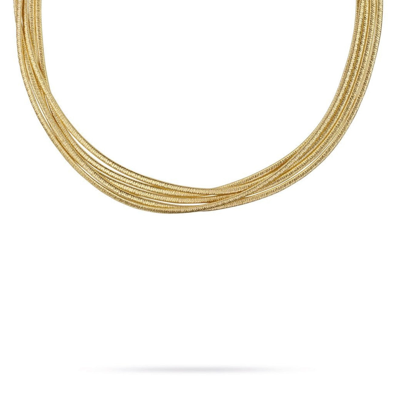 Marco Bicego Jewelry - 18K Yellow Gold Five Strand Woven Collar Necklace | Manfredi Jewels