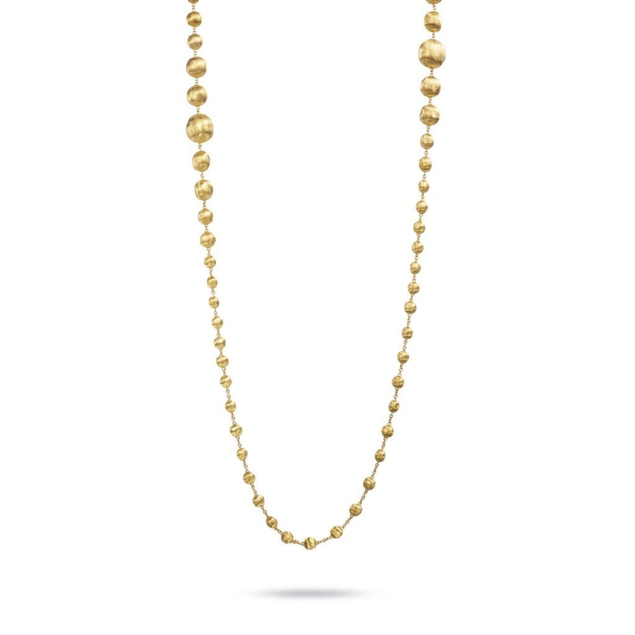 Marco Bicego Jewelry - 18K Yellow Gold Graduated Double Wave Necklace | Manfredi Jewels