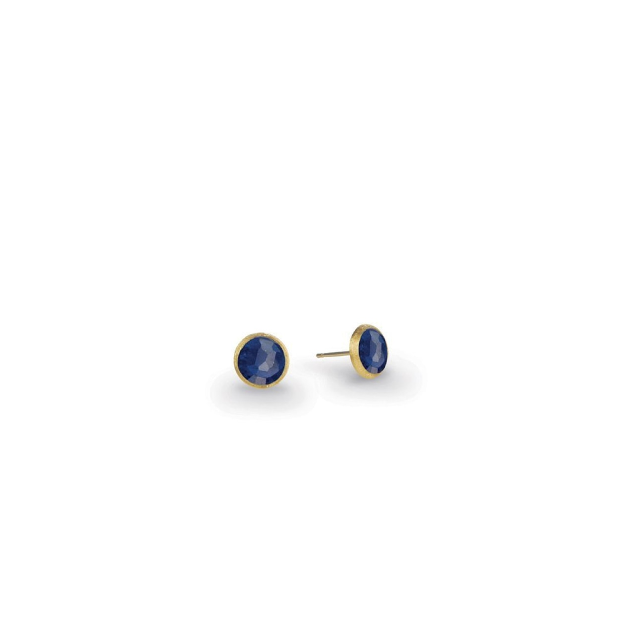 Marco Bicego Jewelry - 18K Yellow Gold & Lapis Petite Stud Earrings | Manfredi Jewels