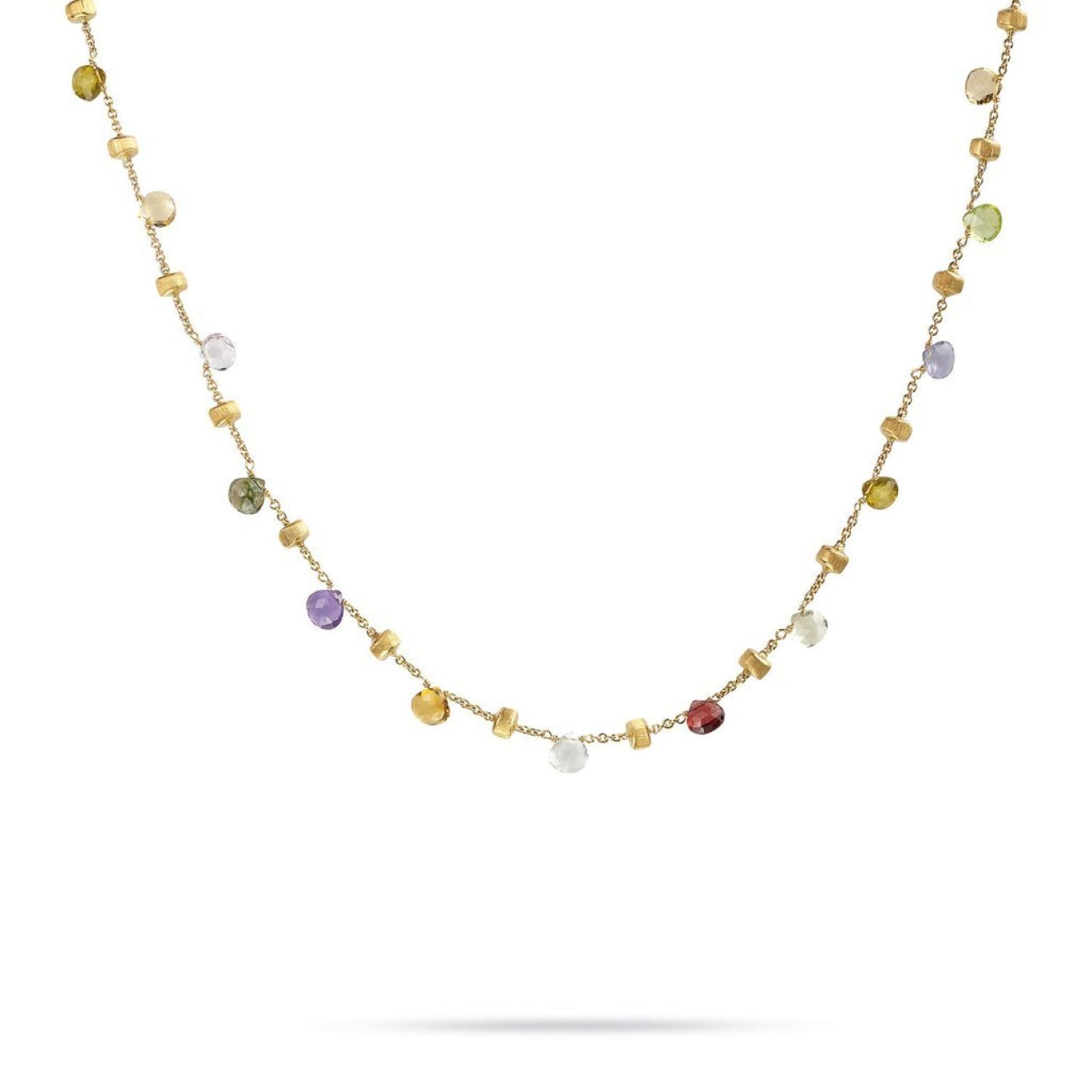Marco Bicego Jewelry - 18K Yellow Gold & Mixed Stone Short Necklace | Manfredi Jewels