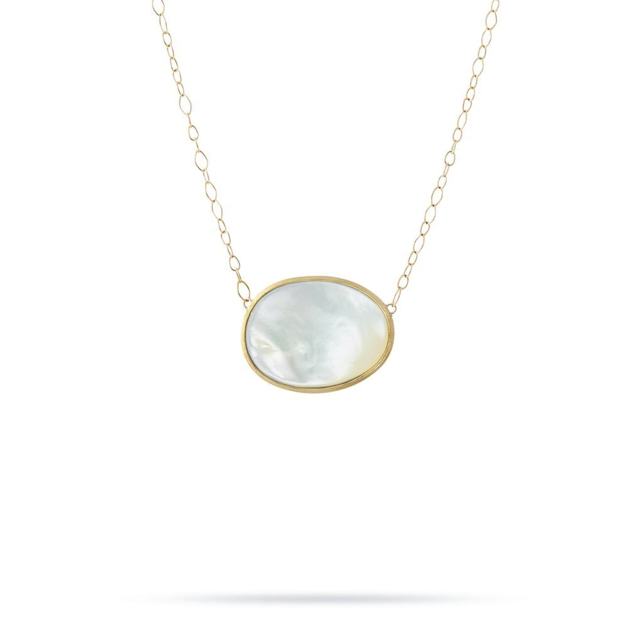 Marco Bicego Jewelry - 18k Yellow Gold Pendant with White Mother of Pearl | Manfredi Jewels