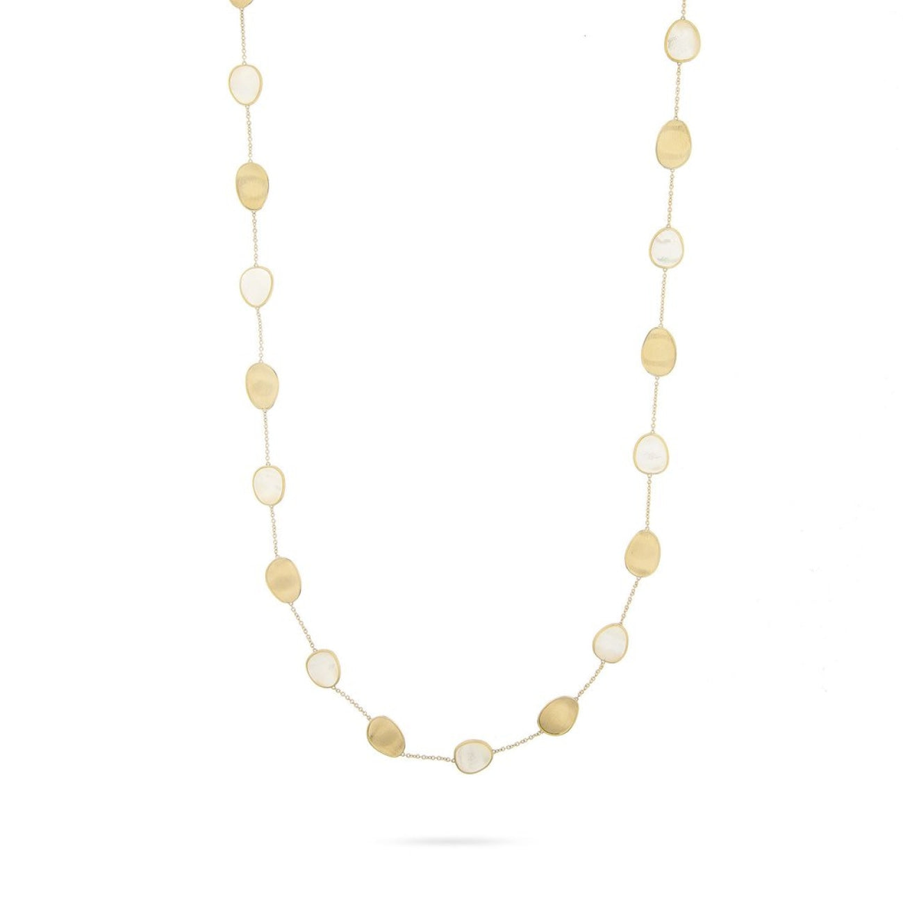 Marco Bicego Jewelry - 18K Yellow Gold & White Mother of Long Necklace | Manfredi Jewels