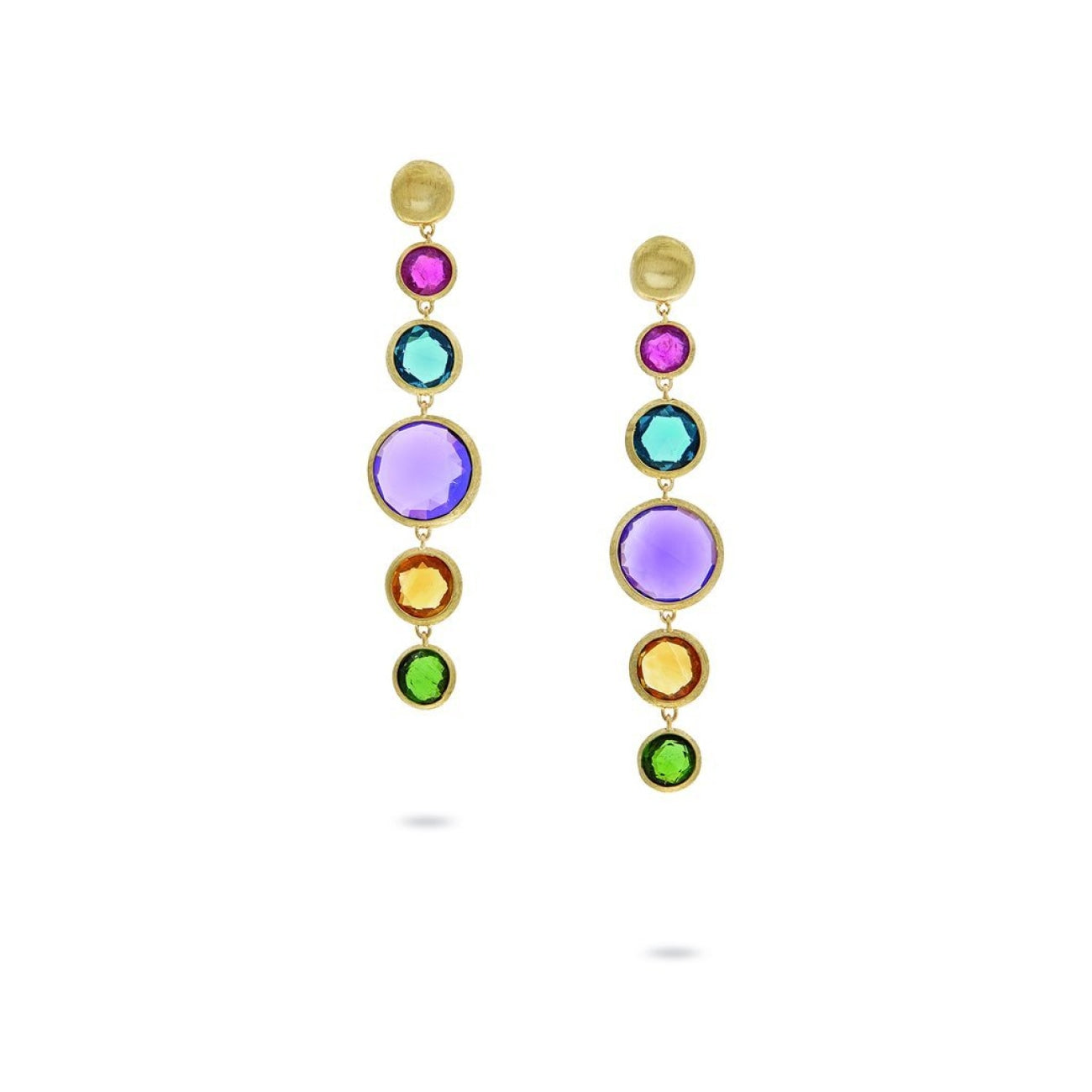 Marco Bicego Jewelry - 18K Yellow Gold with Bold Gemstone Drop Earrings | Manfredi Jewels