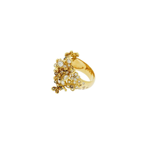 Mariani Jewelry - Flower and butterfly ring | Manfredi Jewels
