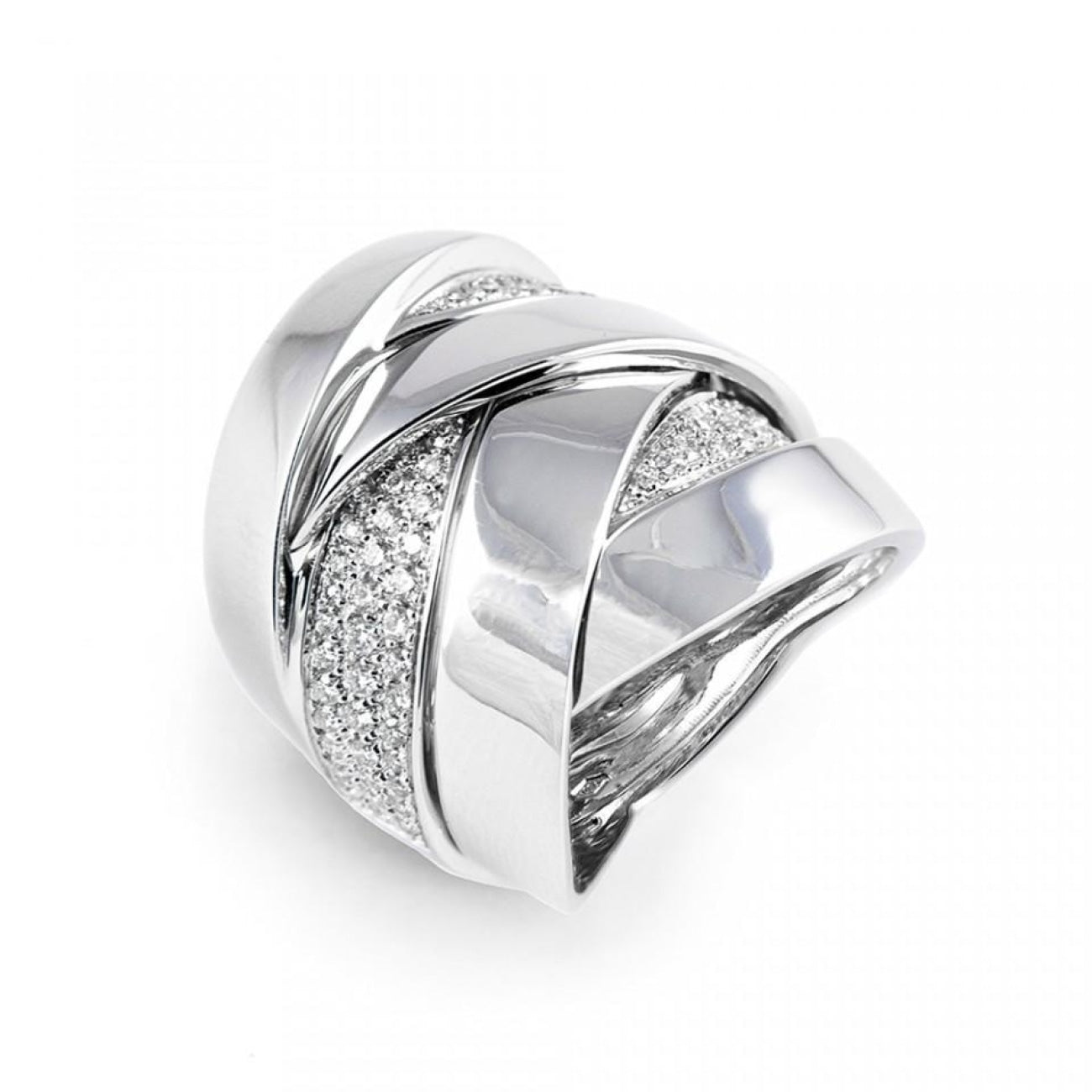 Mattioli Jewelry - 18KT WHITE GOLD MALDAMORE RING | Manfredi Jewels