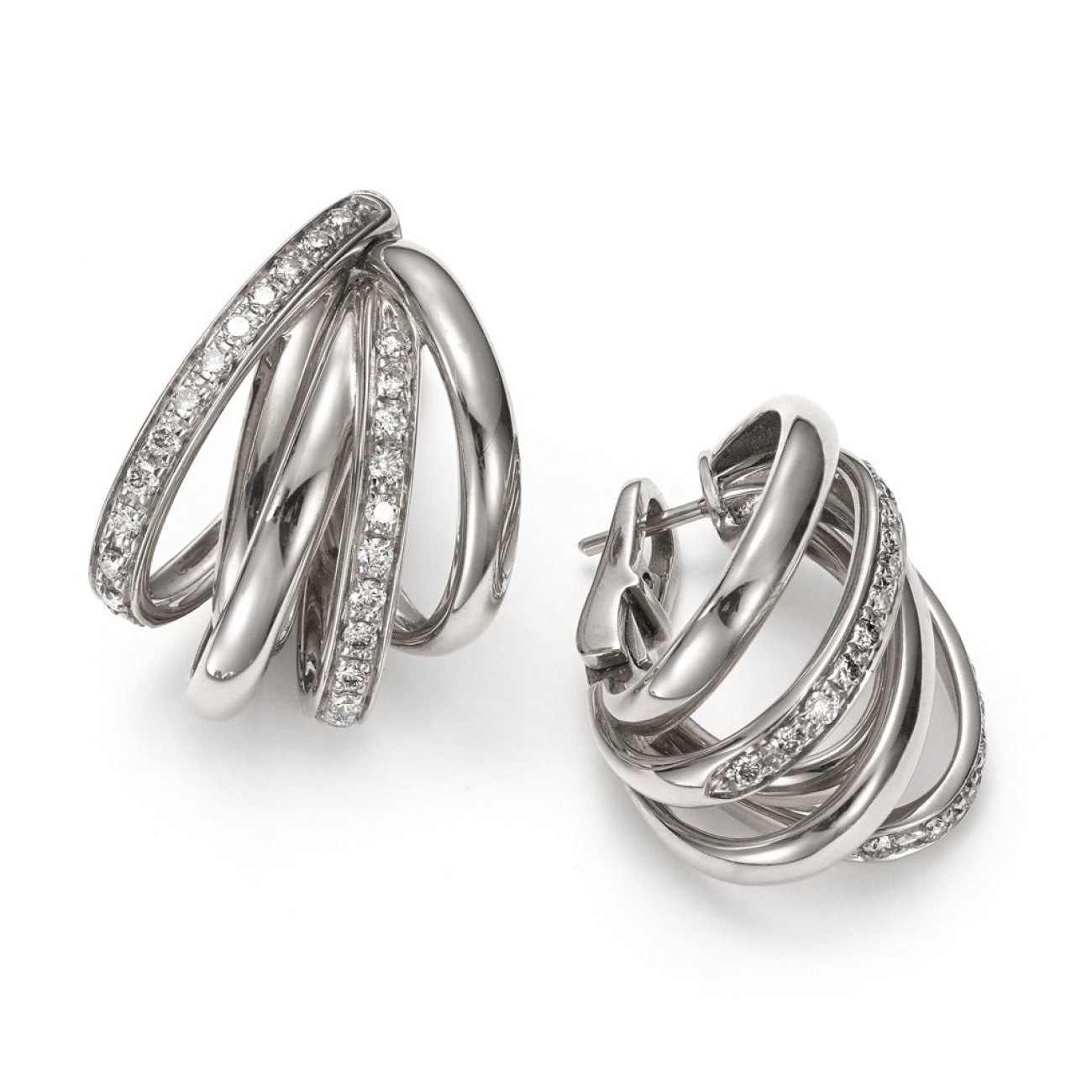 Mattioli Jewelry - Tibet Earrings in white gold and white diamonds | Manfredi Jewels