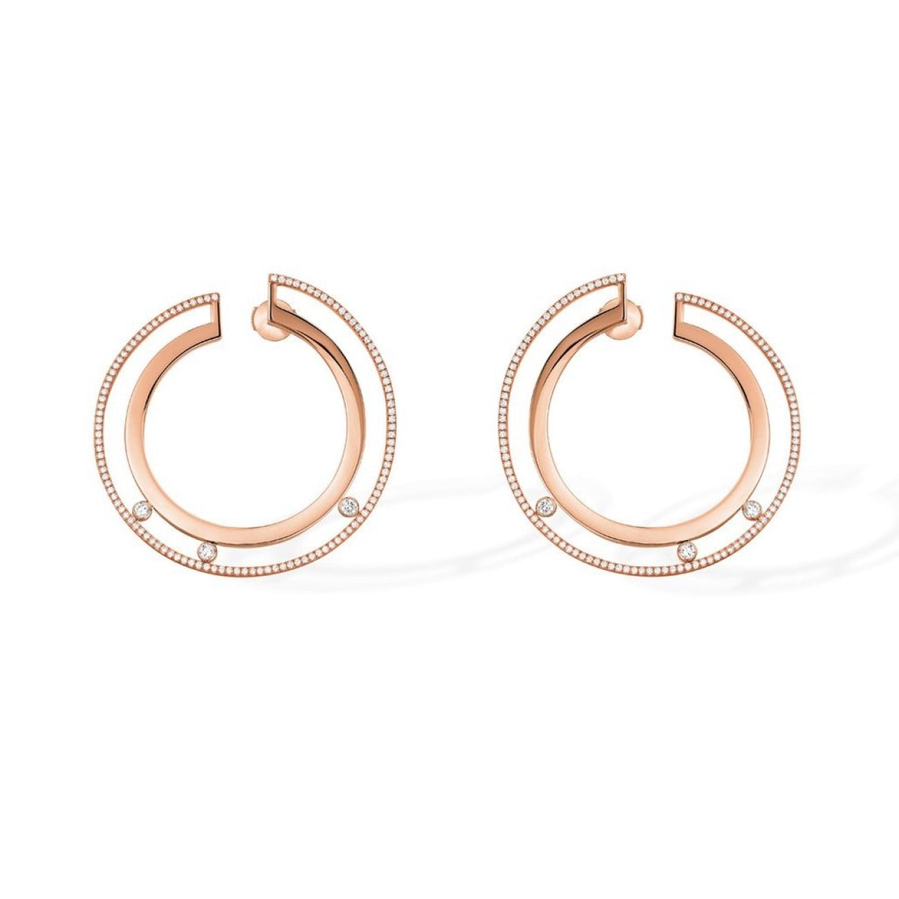 Messika Jewelry - Boucles Hoop Earrings-white Gold | Manfredi Jewels