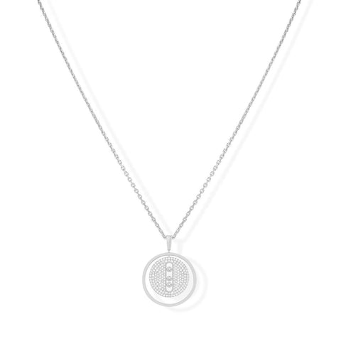 Messika Jewelry - Lucky Move MM Pavé NECKLACE - WHITE GOLD | Manfredi Jewels
