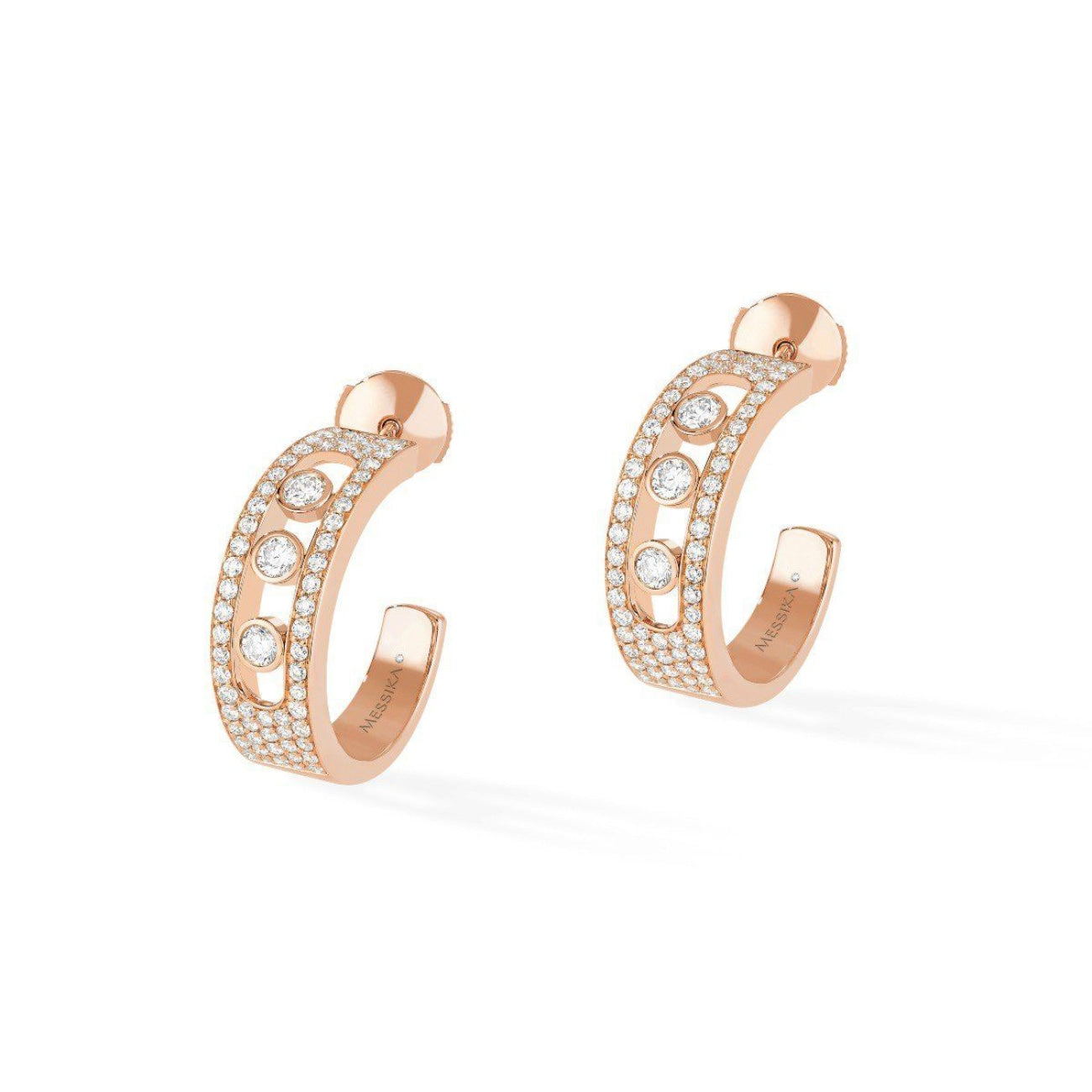 Messika Jewelry - Move Joaillerie Pavé Hoop EARRINGS - ROSE GOLD | Manfredi Jewels