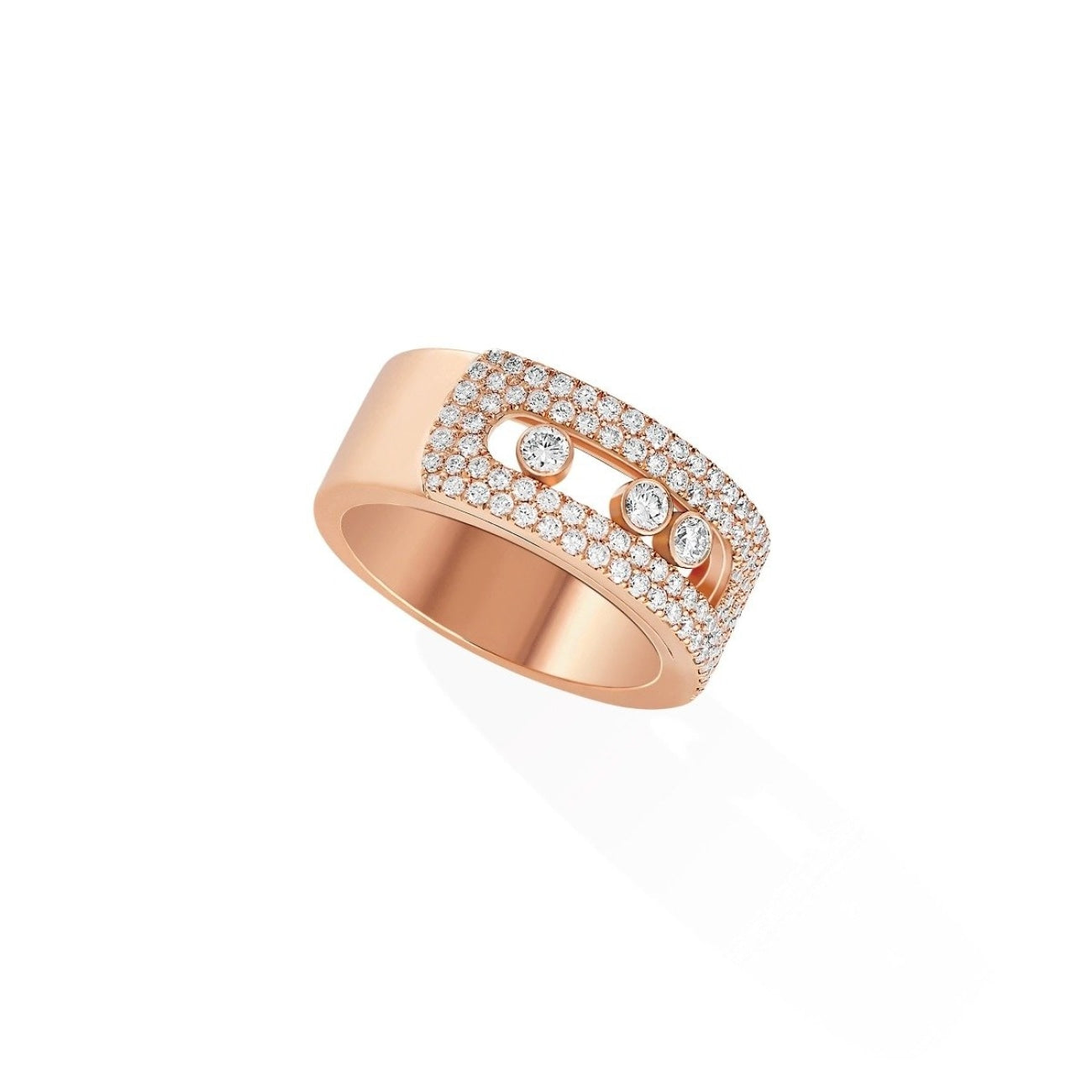 Messika Jewelry - Move Noa GM Pavé RING - PINK GOLD | Manfredi Jewels