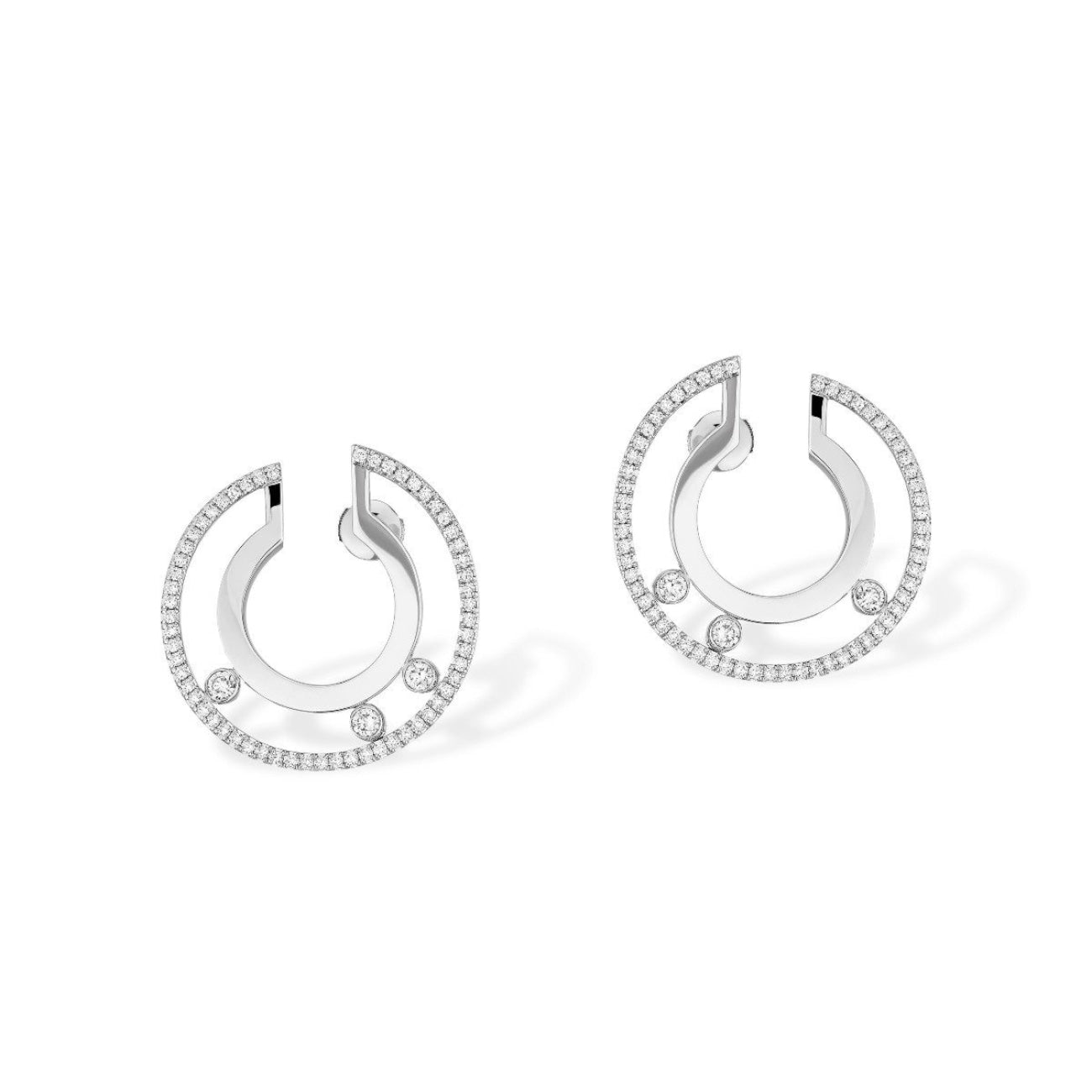Messika Jewelry - Move Romane Small Hoop | Manfredi Jewels