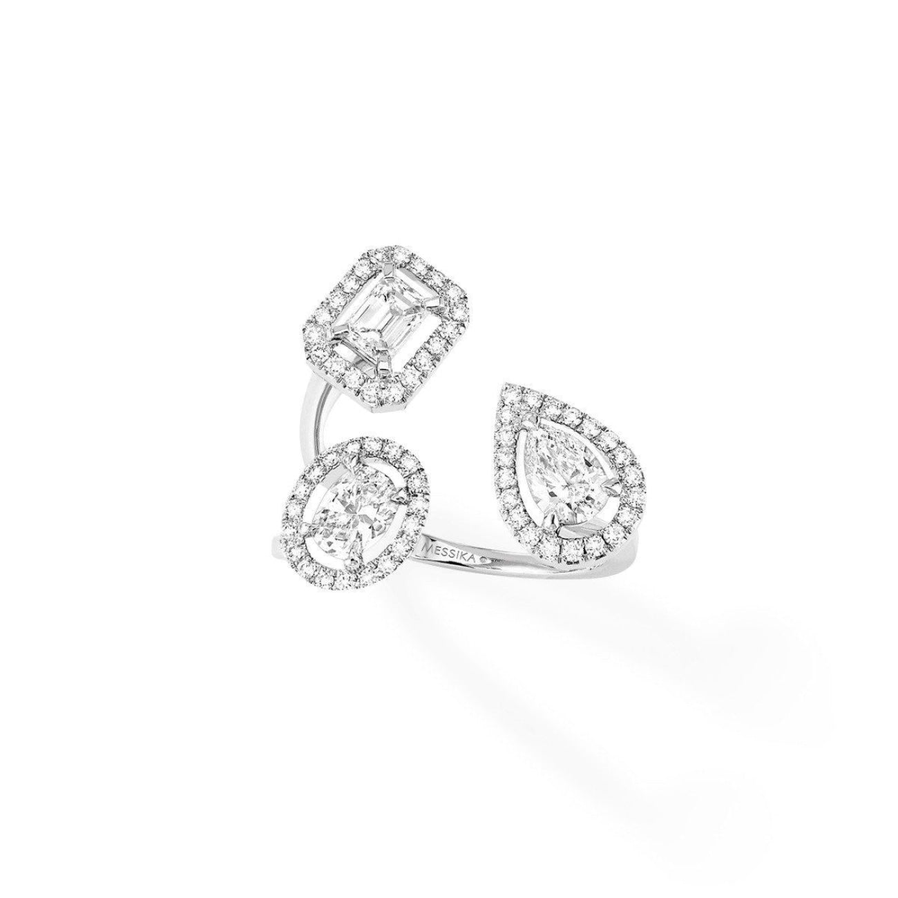 Messika Jewelry - My Twin Trilogy 50ct x3 RING - WHITE GOLD | Manfredi Jewels