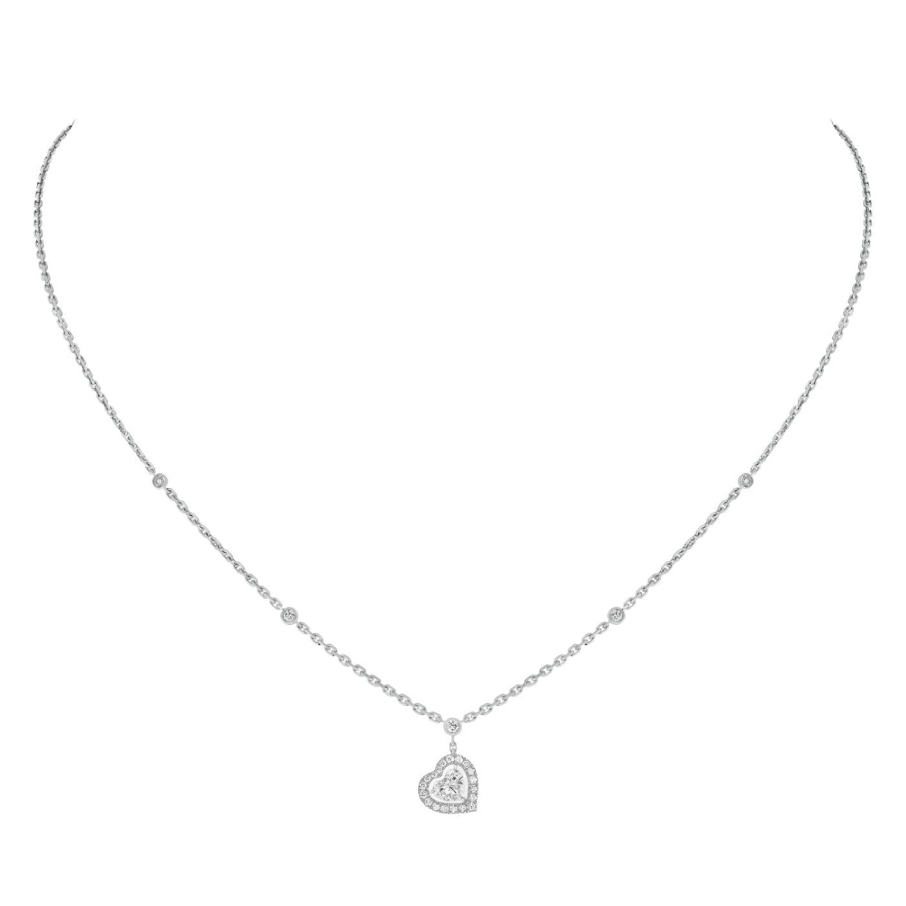 Messika Jewelry - WHITE GOLD JOY CŒUR 0.15-CARAT DIAMOND NECKLACE | Manfredi Jewels