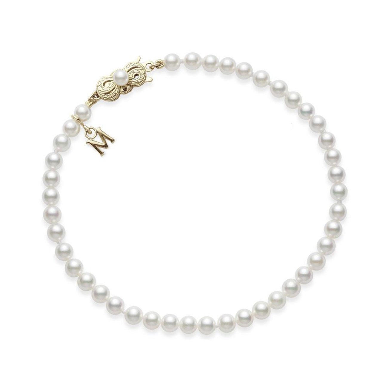 Mikimoto Jewelry - Mikimoto 7.5x7mm Akoya Cultured Pearl Bracelet | Manfredi Jewels