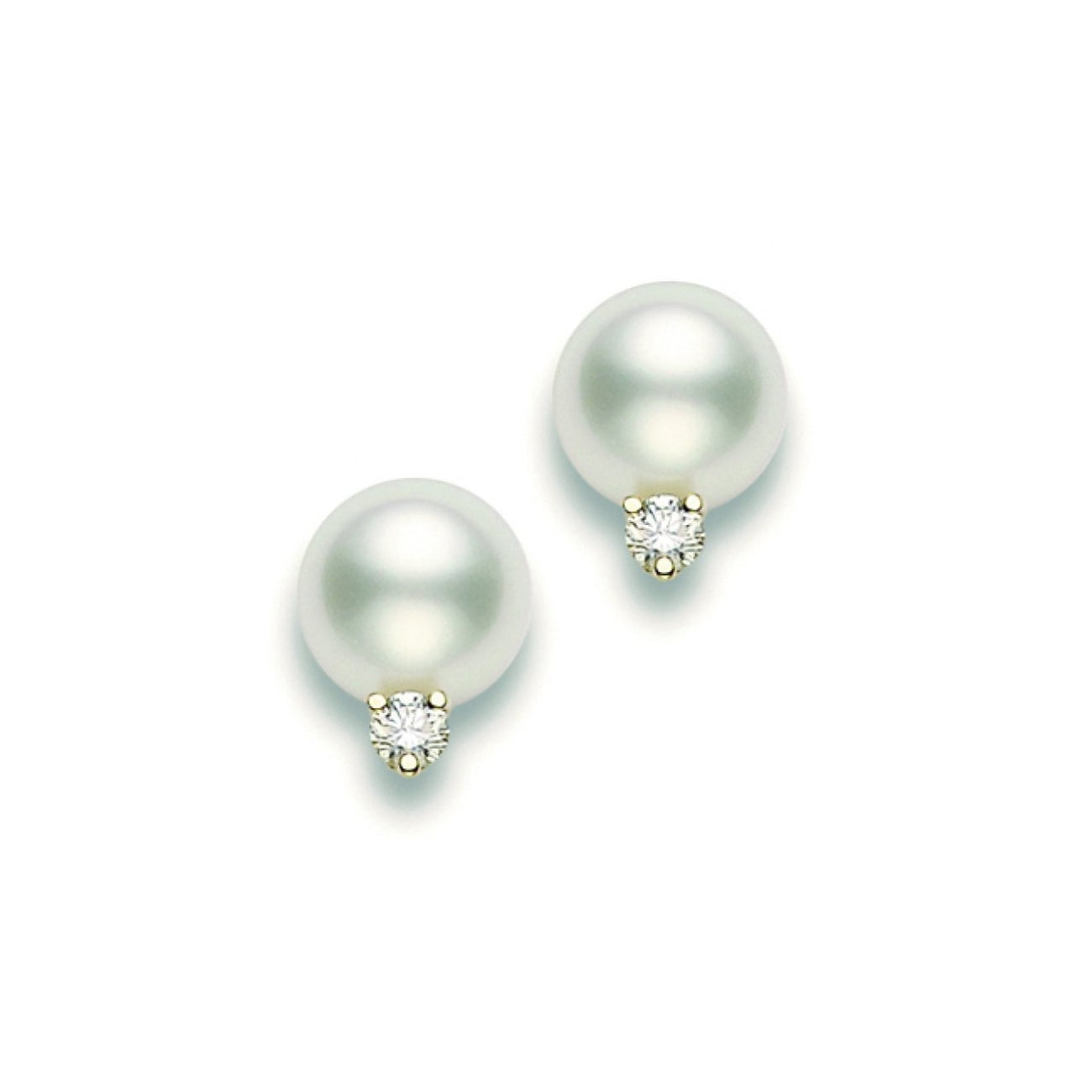 Mikimoto Jewelry - Mikimoto 9 mm white gold cultured pearl earrings | Manfredi Jewels