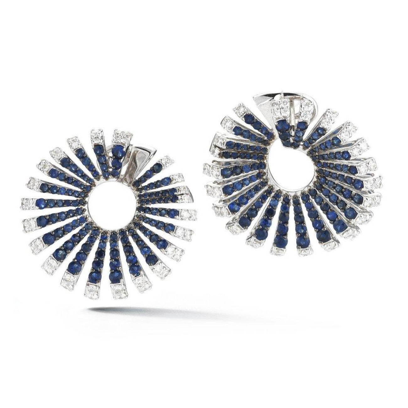 Miseno Jewelry - Ventaglio Earrings in white gold | Manfredi Jewels