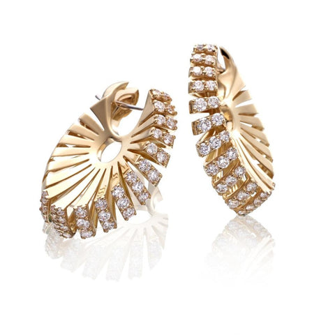 Miseno Jewelry - Ventaglio Earrings in yellow gold | Manfredi Jewels