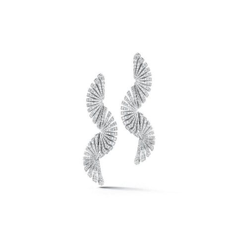 Miseno Jewelry - Ventaglio Long Earrings in white gold | Manfredi Jewels