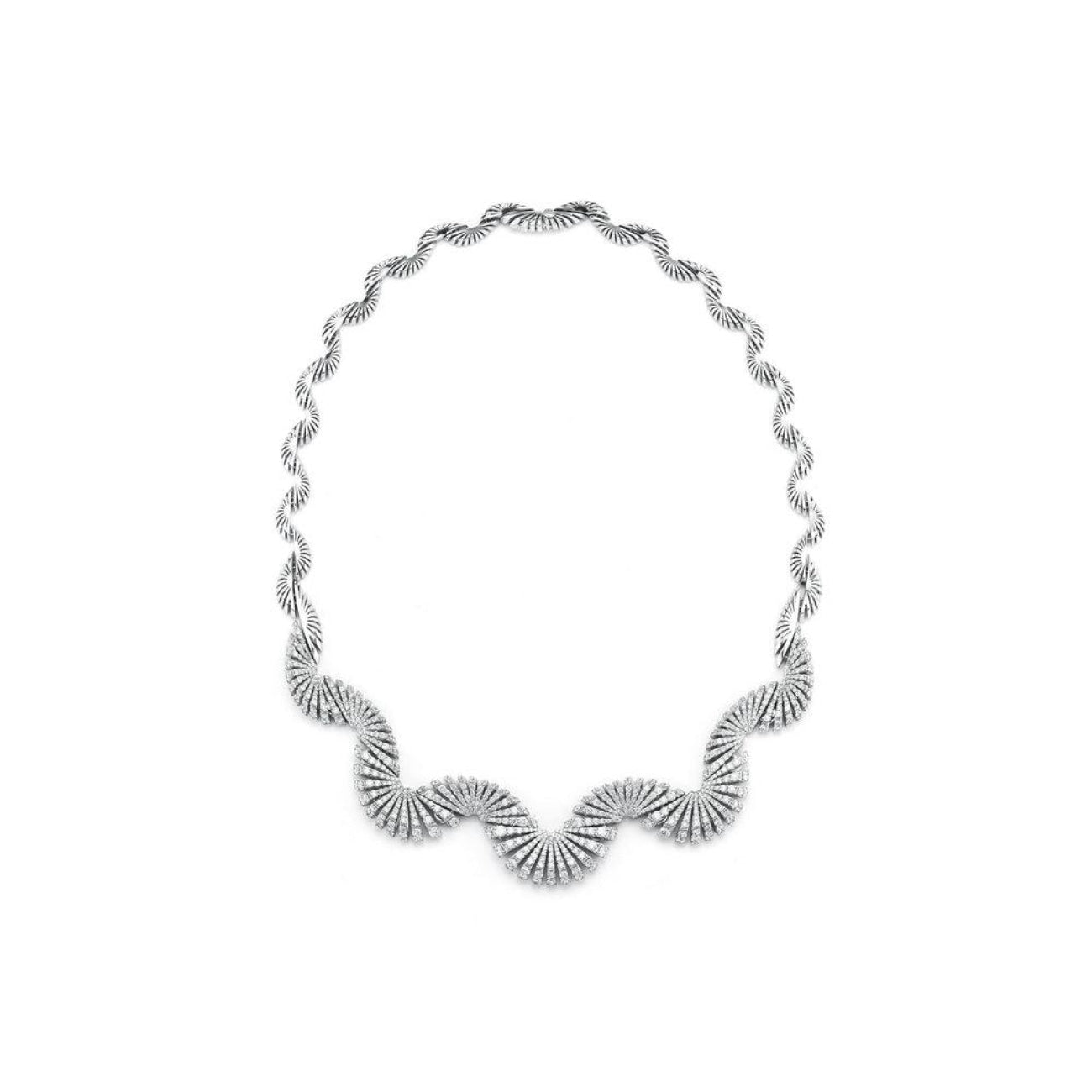Miseno Jewelry - Ventaglio Necklace in white gold | Manfredi Jewels