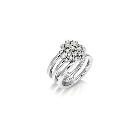 Miseno Jewelry - Vesuvio Ring in white gold | Manfredi Jewels