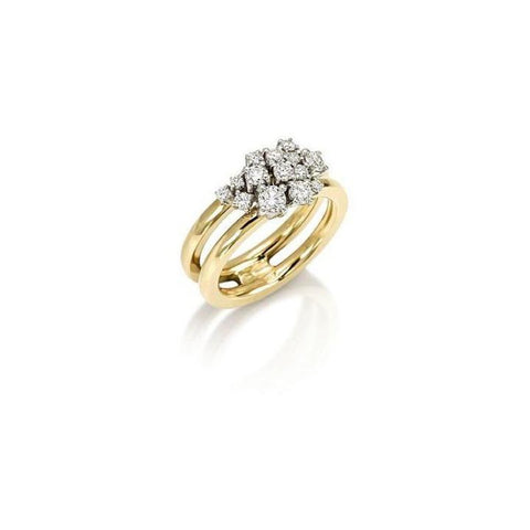 Miseno Jewelry - Vesuvio Ring in yellow gold | Manfredi Jewels