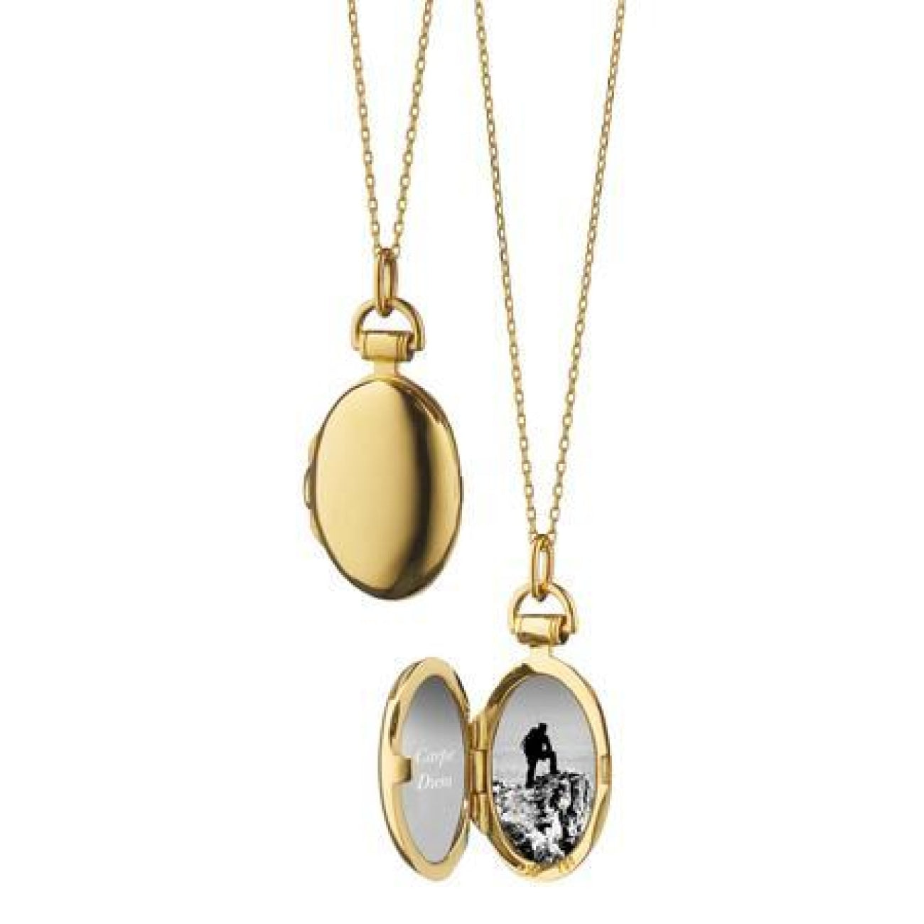Monica Rich Kosann Jewelry - 18K YELLOW GOLD PETITE ANNA LOCKET NECKLACE | Manfredi Jewels