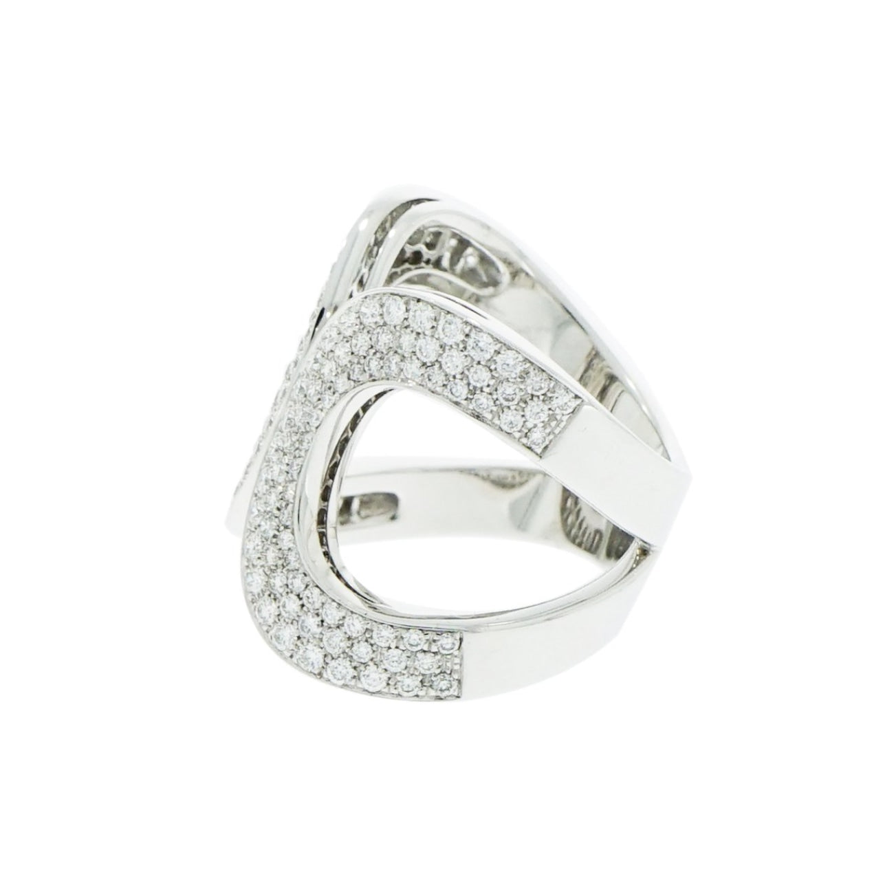 New Italian Art Jewelry - Diamond Pave Ring | Manfredi Jewels