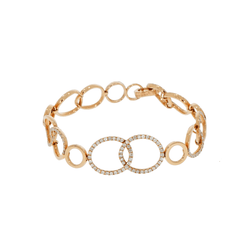 New Italian Art Jewelry - Interlocking Oval/Round Bracelet | Manfredi Jewels
