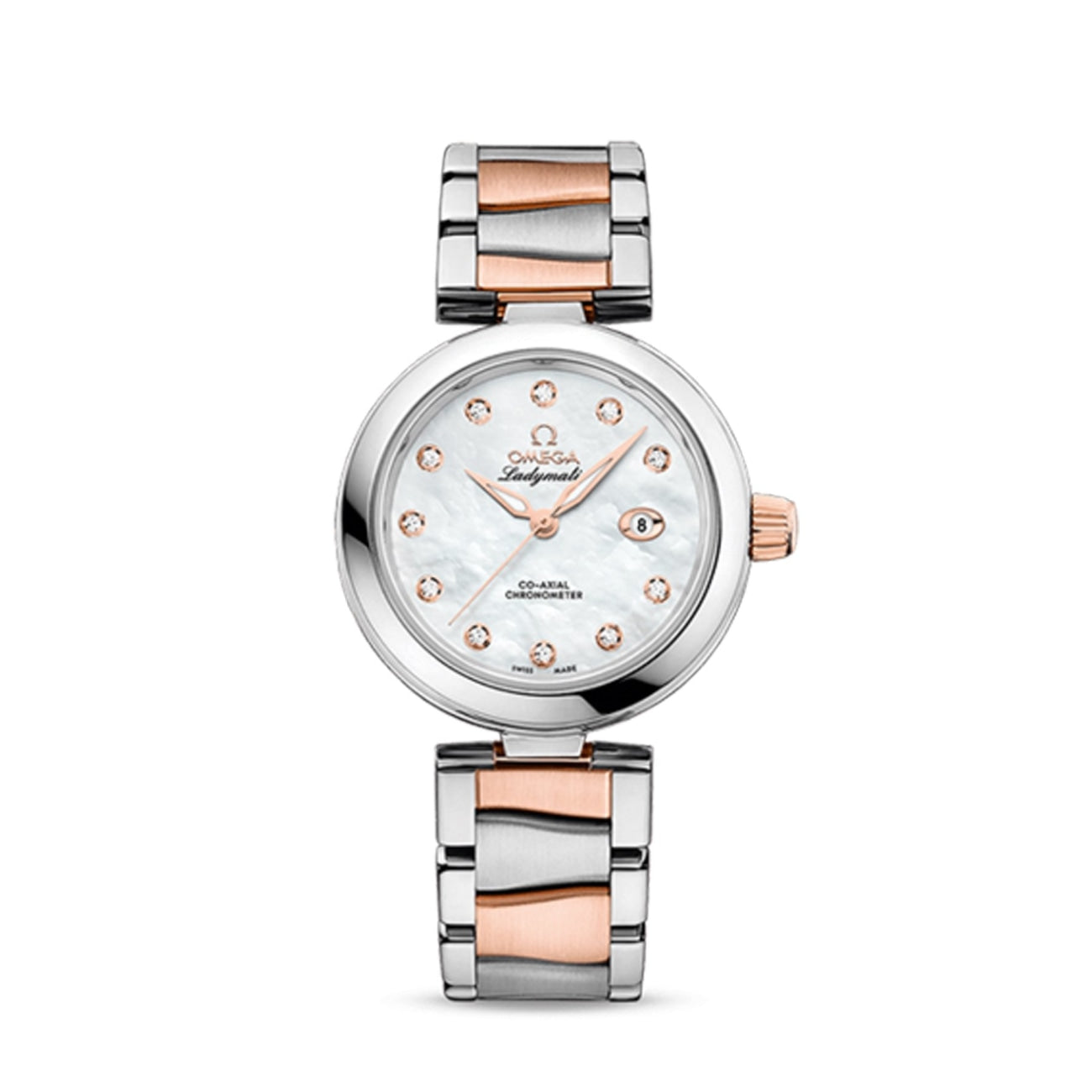 Omega Watches - De Ville Ladymatic Omega Co-Axial 34 MM | Manfredi Jewels