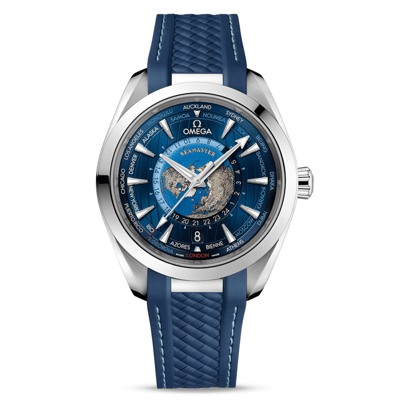 Omega Watches - Seamaster AQUA TERRA 150M OMEGA CO‑AXIAL MASTER CHRONOMETER GMT WORLDTIMER 43 MM Worldtimer | Manfredi Jewels