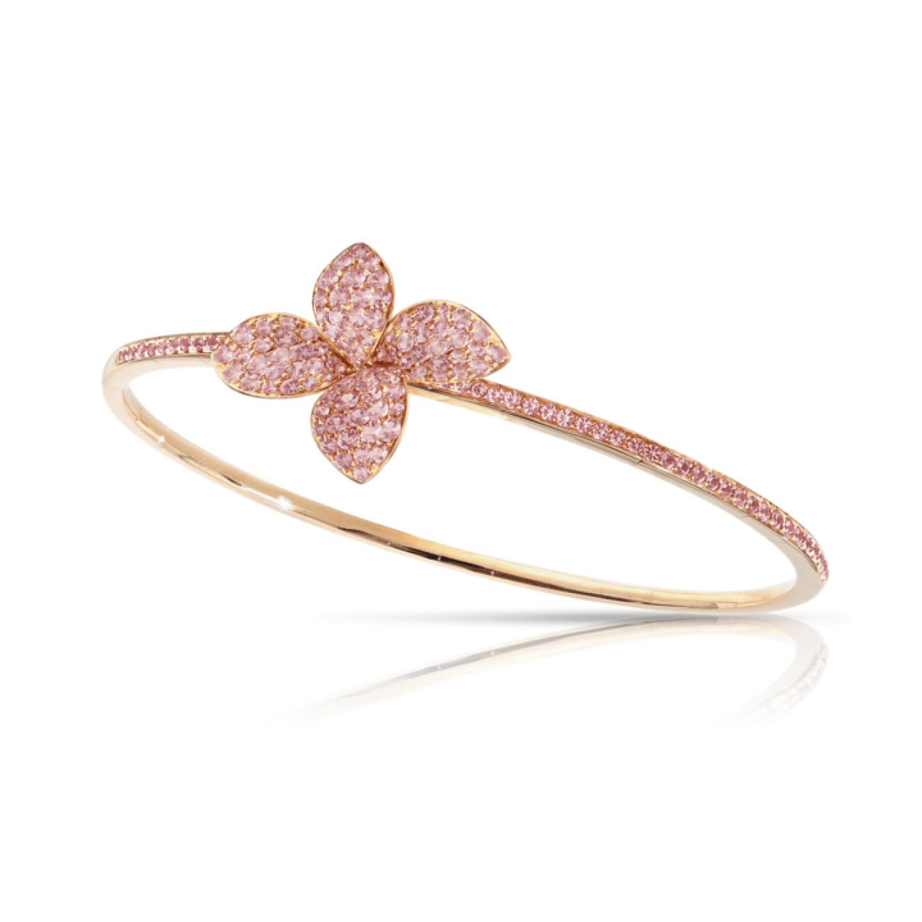 Pasquale Bruni Jewelry - 18k Rose Gold Petit Garden Bracelet with Pink Sapphires | Manfredi Jewels