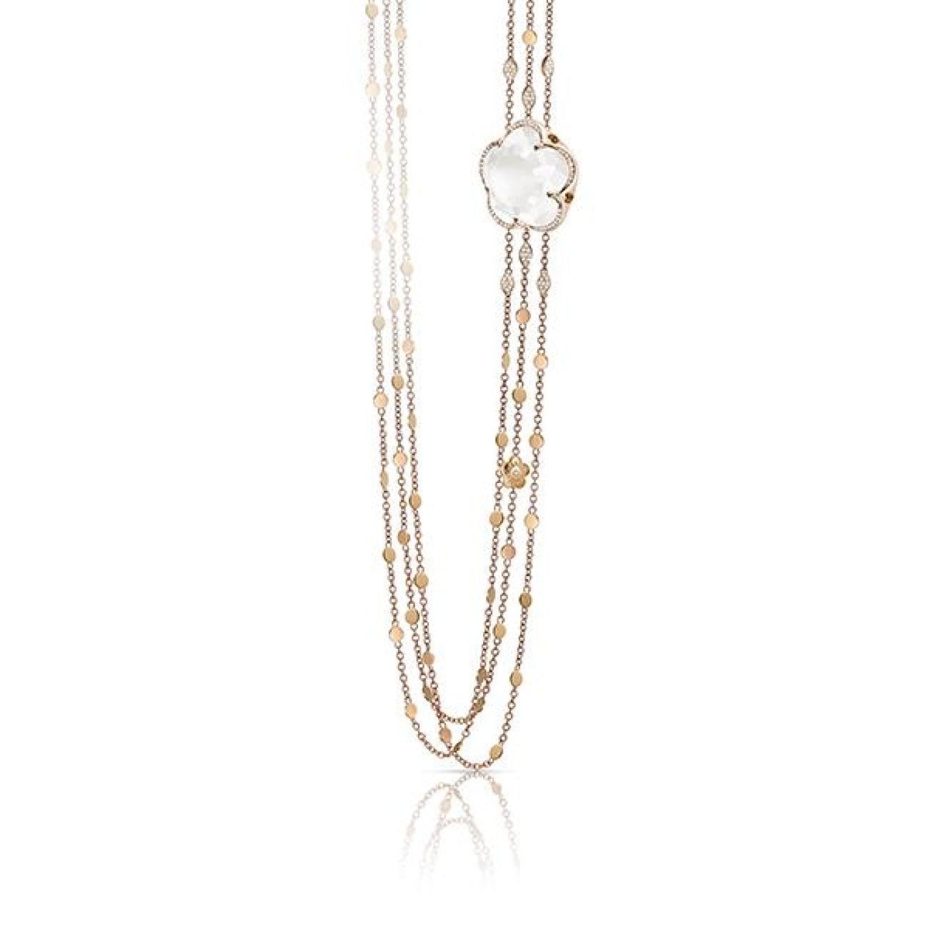 Pasquale Bruni Jewelry - Bon Ton Milky Quartz Rose Gold Necklace | Manfredi Jewels