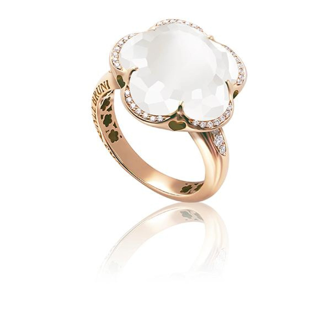 Pasquale Bruni Jewelry - Bon Ton Milky Quartz Rose Gold Ring | Manfredi Jewels