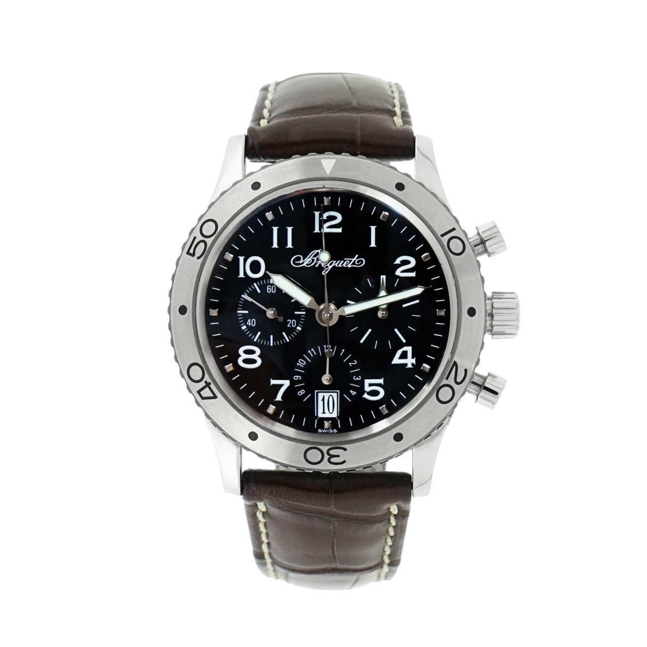 Pre-Owned Breguet Watches - Excellent Breguet Type XX Transatlantique in Stainless Steel | Manfredi Jewels