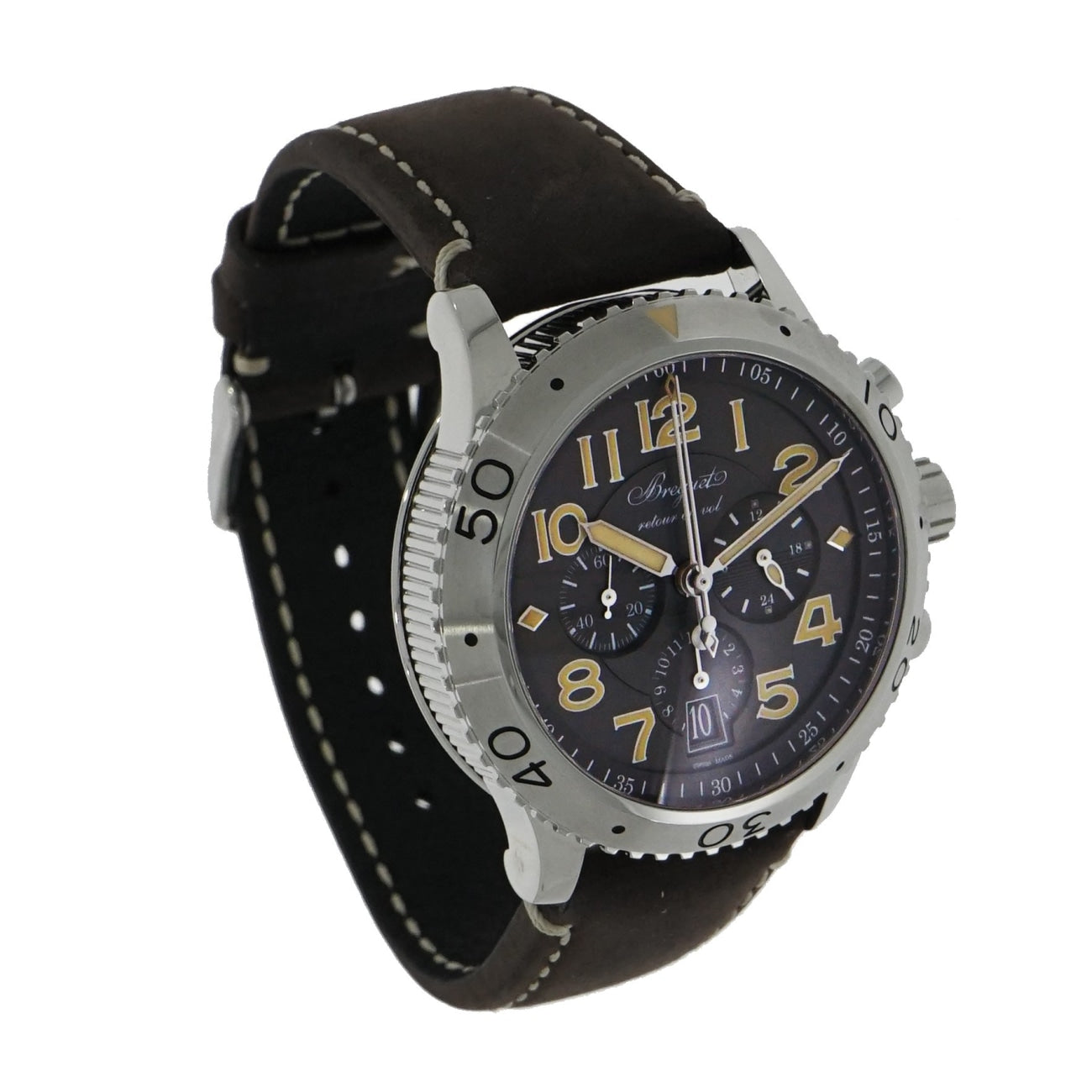 Pre-Owned Breguet Watches - Flyback Chronograph Type XXI Stainless Steel | Manfredi Jewels