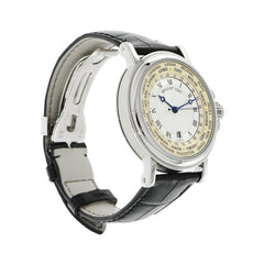 Pre-Owned Breguet Watches - Marine Hora Mundi in 18 Karat White Gold | Manfredi Jewels
