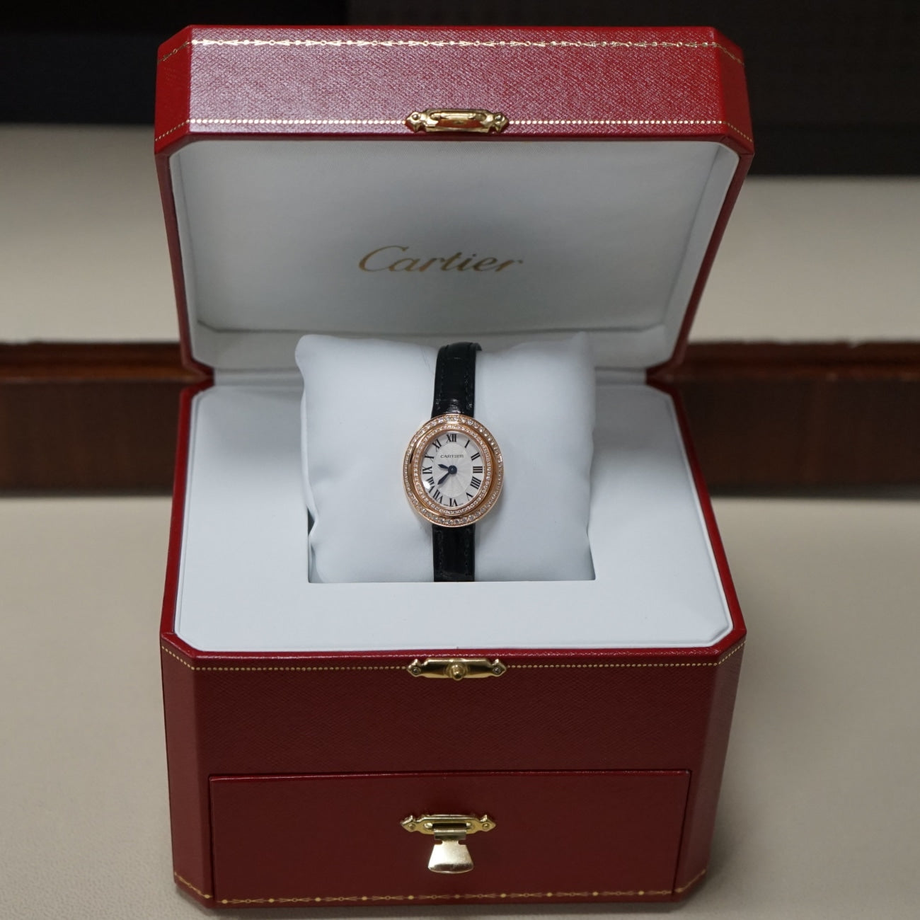 Pre-Owned Cartier Pre-Owned Watches - Cartier Hypnose in 18 Karat Rose Gold WJHY0003 | Manfredi Jewels