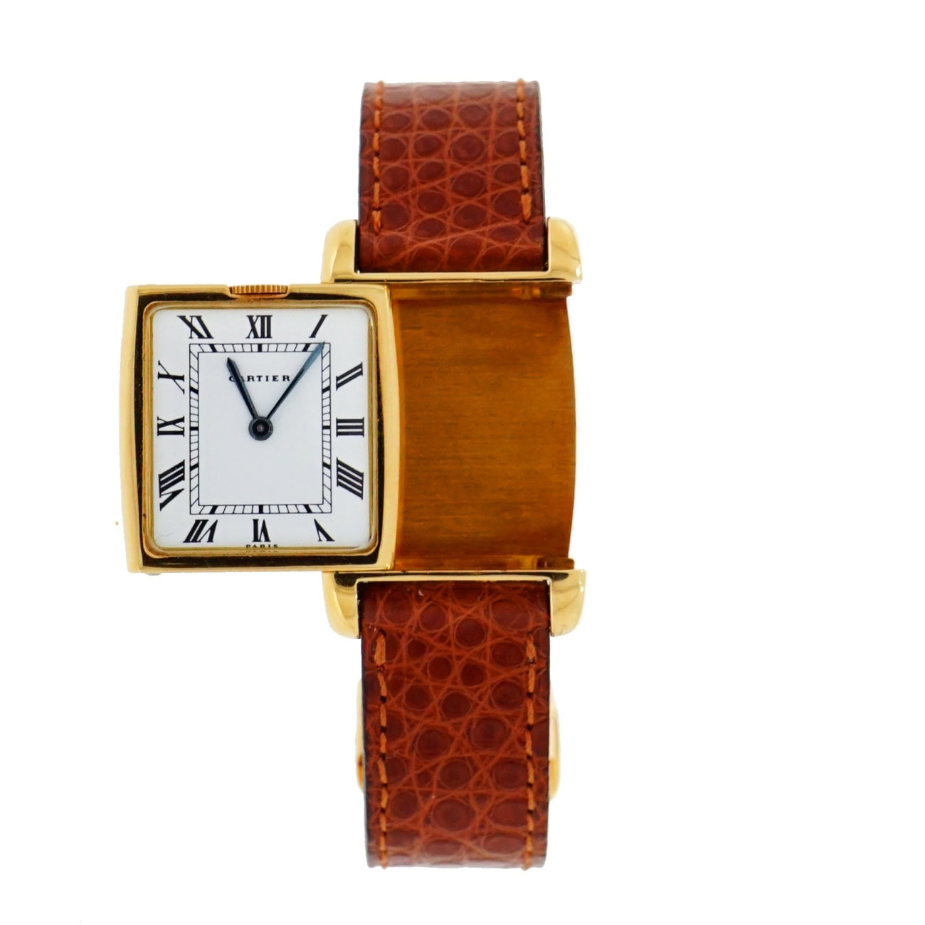 Pre-Owned Cartier Watches - Cartier Reverso Dual Time Zone in 18 karat Yellow gold | Manfredi Jewels