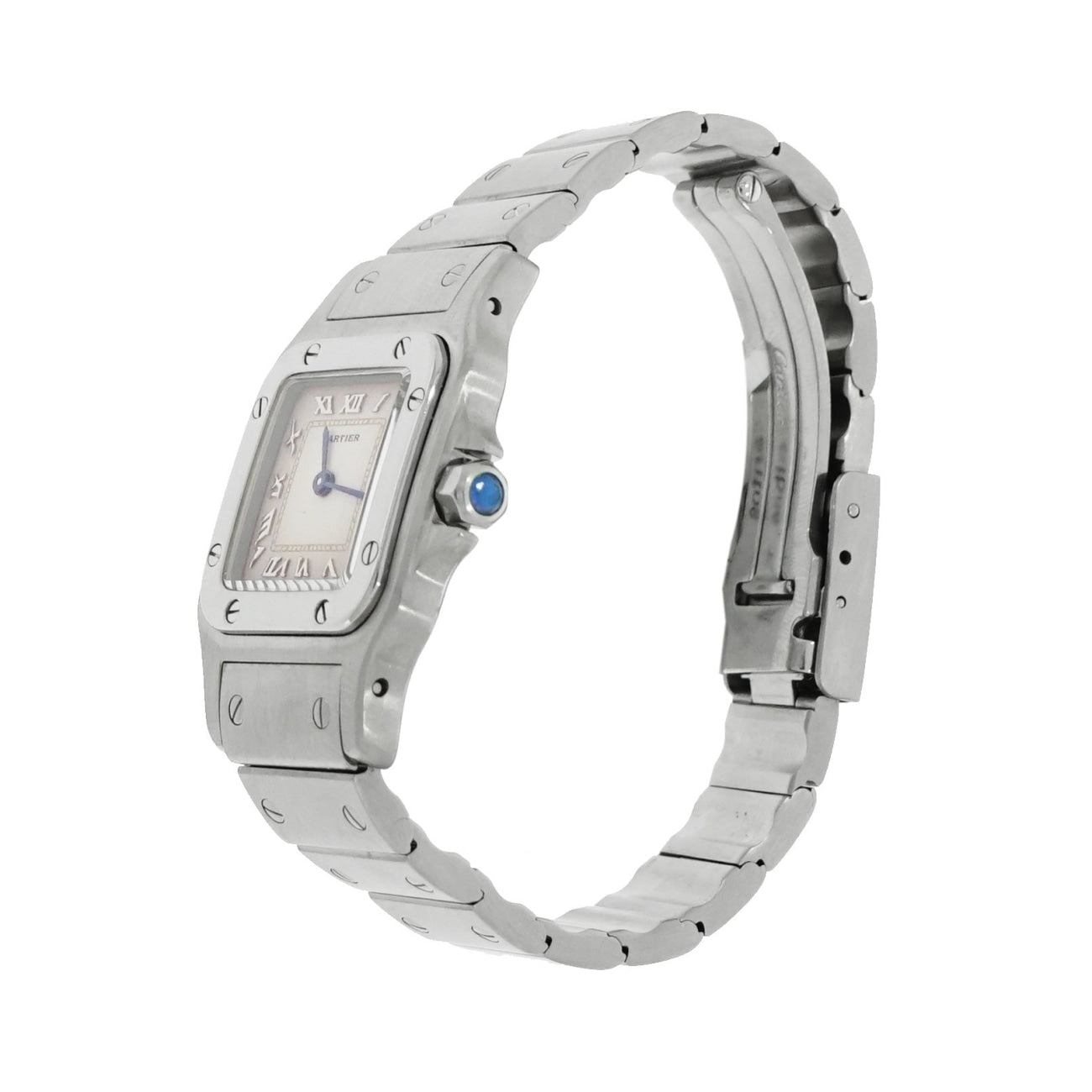 Pre-Owned Cartier Pre-Owned Watches - Cartier Santos Galbee 24mm Stainless Steel | Manfredi Jewels