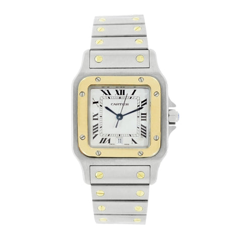 Pre-Owned Cartier Watches - Santos Galbee Stainless Steel and Yellow Gold | Manfredi Jewels