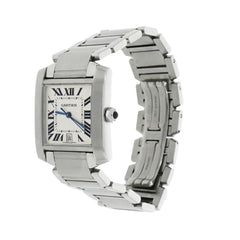 Pre-Owned Cartier Pre-Owned Watches - Cartier Tank Francaise W51002Q3 in Stainless Steel | Manfredi Jewels