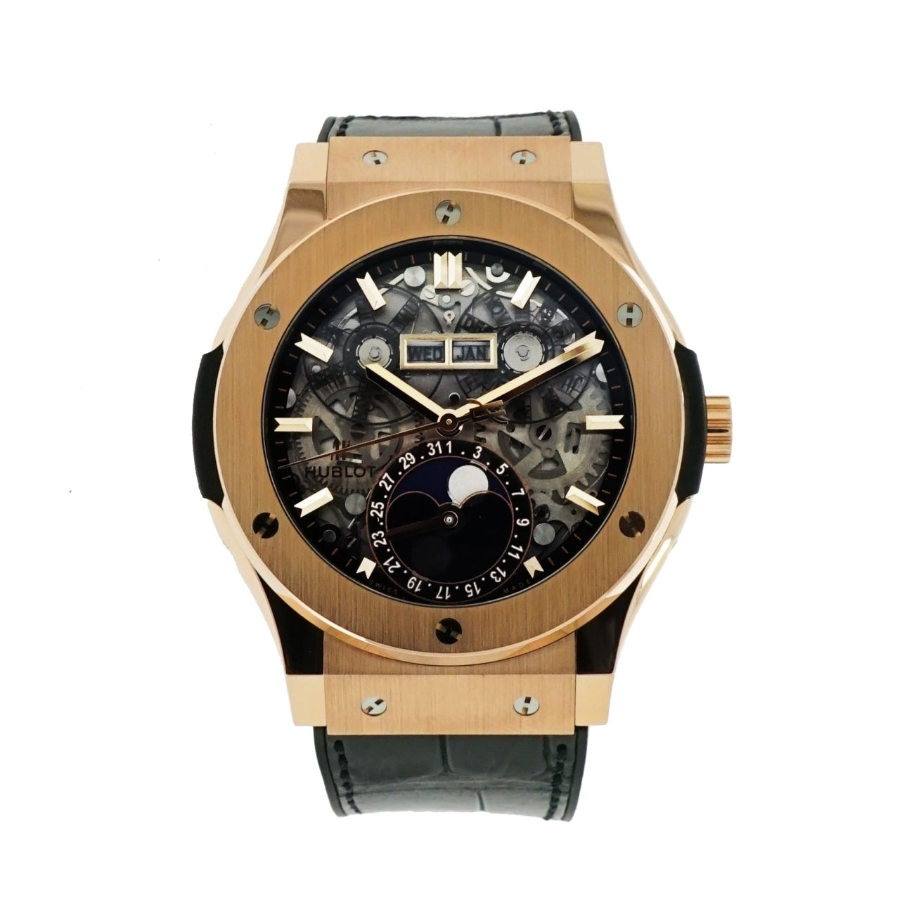 Pre-Owned Hublot Watches - Classic Fusion King Gold Aerofusion Moonphase | Manfredi Jewels